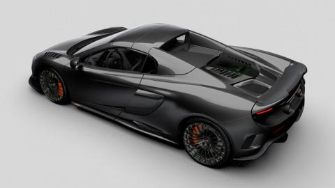 McLaren 675LT Spider MSO Carbono trasera fibra