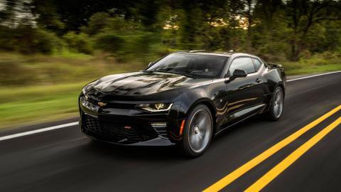 Chevrolet Camaro SS 2016 negro prueba