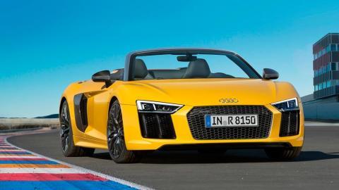 Audi R8 V10 Spyder frontal deportivo lujo
