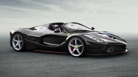 Ferrari LaFerrari Aperta descapotable hyperdeportivo negro