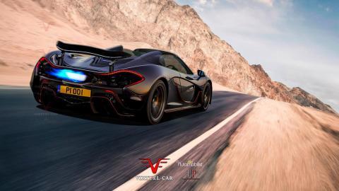 Render McLaren P1 Spider (1)