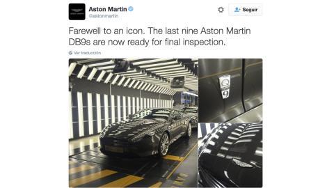 Estos son los últimos DB9. Aston lo confirmó