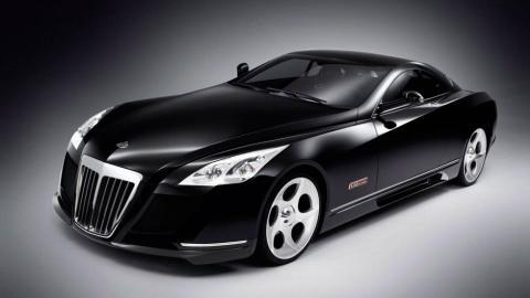 Maybach Exelero coupé lujo grande negro