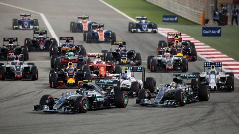 Parrilla F1 2017