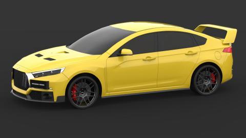 Render Mitsubishi Evo (I)