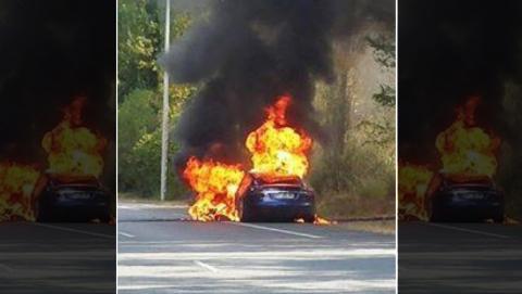 Tesla Model S arde en Francia