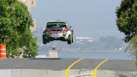 Ford Fiesta Ken Block salto brutal gymkhana 5