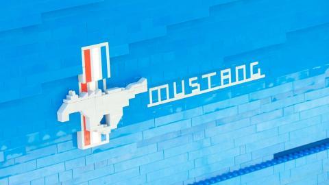 El impresionante Ford Mustang de LEGO