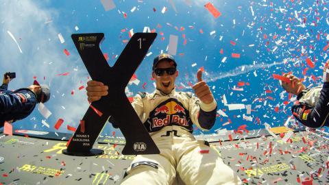 Mattias Ekstrom, ganador en Barcelona y líder del RX 2016.