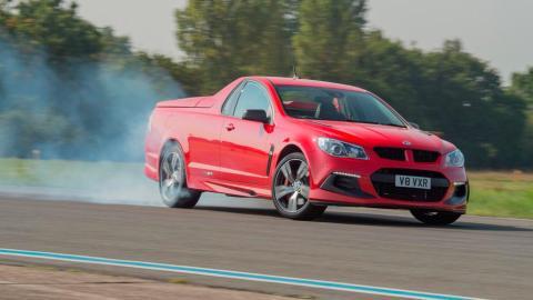 Vauxhall VXR8 Maloo prueba pick up deportivo pick-up circuito drift derrape