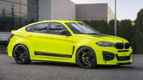 BMW X6 M Lumma Design fluorescente ovni lujo SUV deportivo brutal todo terreno preparaciones