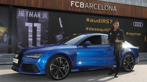 Coches Audi de los jugadores del Barcelona
