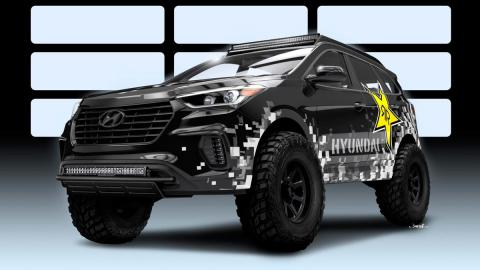 Hyundai Santa Fe Rockstar preparaciones off-road 4x4 sema show radical