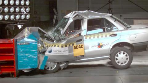 Nissan Tsuru crash test latin ncap prueba choque menos seguro coche
