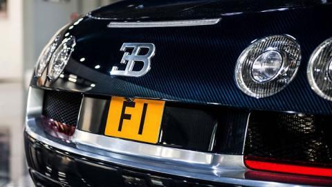 Bugatti Veyron Super Sport Blue Carbon matrícula
