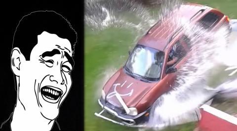 Cómo vaciar tu piscina con el coche en unos minutos