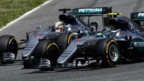 Rosberg y Hamilton luchan por la hegemonía en la F1