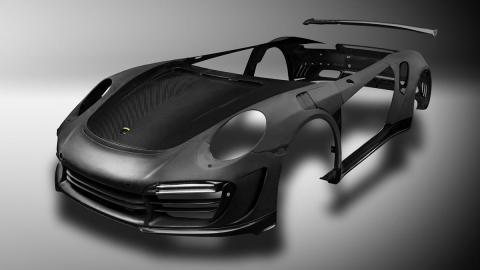 Porsche 911 fibra de carbono top car preparaciones recubierto lujo tuning
