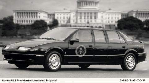 4. 1993 Saturn SL1 State Car para el presidente Bill Clinton