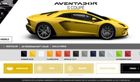 Configurador Aventador S