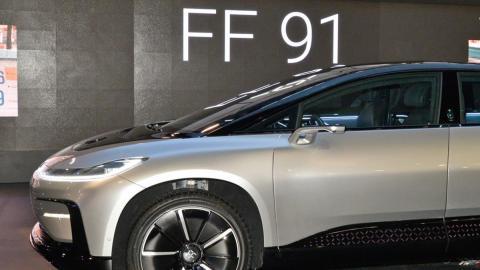 El Faraday Future FF91 durante su presentación oficial en el CES 2017