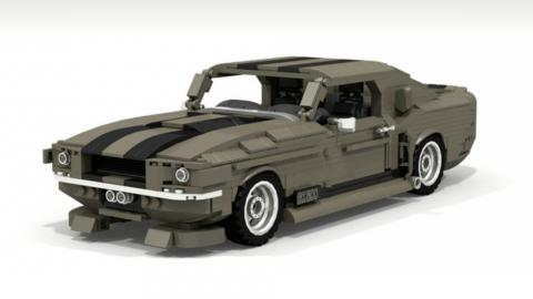 Shelby Mustang GT500 'Eleanor' de Lego