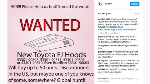 Toyota FJ40 capó búsqueda