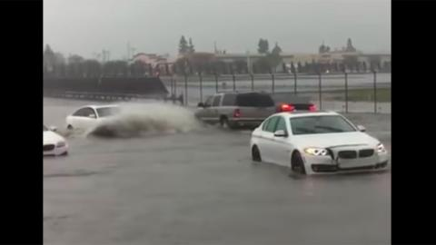 Audi A6 inundacion BMW video