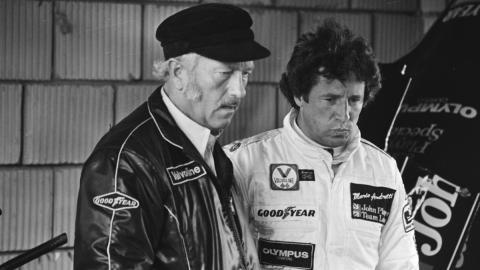 Colin Chapman y Mario Andretti