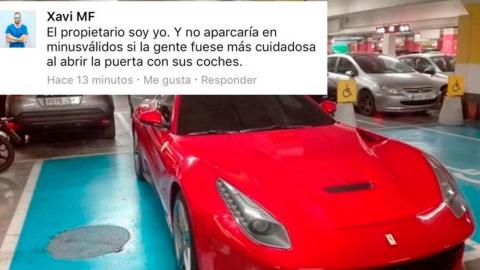 Ferrari plaza discapacitados