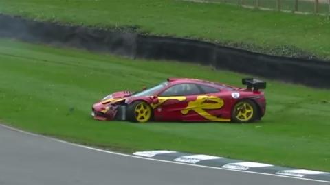 Accidente McLaren F1 GTR Nick Mason