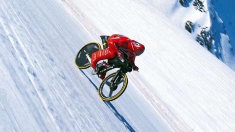 Èric Barone bate el récord de velocidad en  bici de montaña