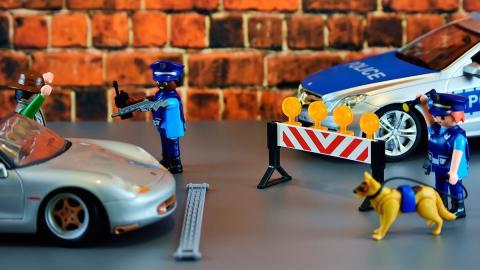 Control de policía lego juguete