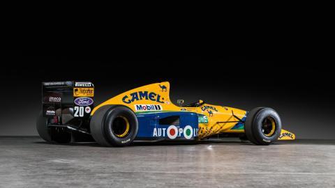 Sale a subasta el Benetton B-191-02pilotado porMichael Schumacher en 1991