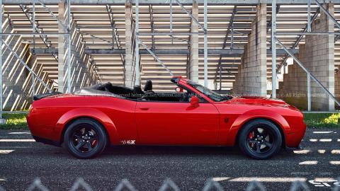 Así podría ser el Dodge Challenger SRT Demon descapotable