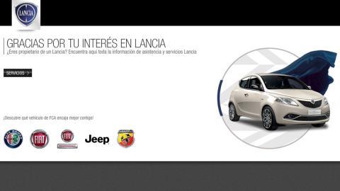 Así recibe la web oficial de Lancia a sus usuarios