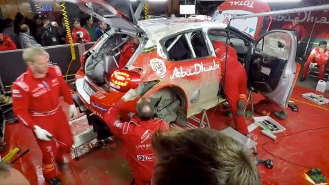 Así reconstruye Citroën un C3 WRC destrozado en tres horas