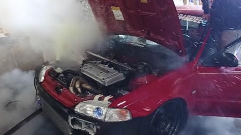 Así revienta el motor de un Civic de 500 CV