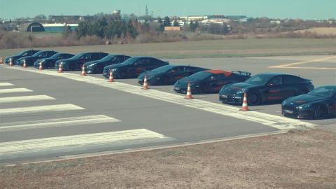 Drag race de Levella Lamborghini Audi BMW Nissan Porsche Aston Martin