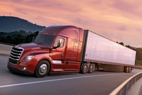 Freghtliner Cascadia. 15,6 litros, 16 cilindros en línea, 608 CV y... ¡2.779 Nm