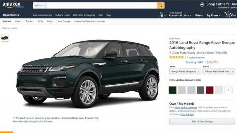Amazon, venta de coches