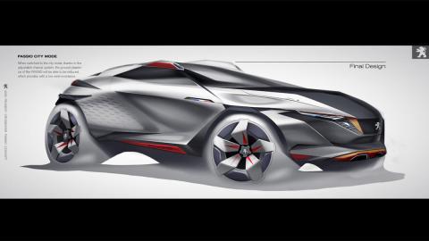 Diseño SUV Peugeot del futuro hanchang liu grafico proyecto