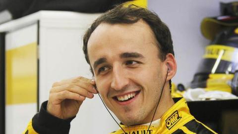 Kubica, más feliz que una perdiz, tras bajarse del f1 en Cheste