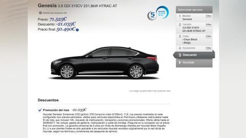 Descuento Hyundai Genesis mayor España