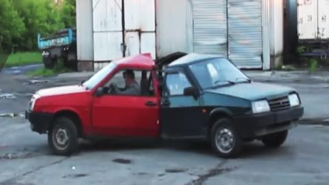 Un fidget spinner creado con tres coches soldados