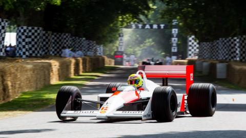 El MP 4/4 de Senna en Goodwood