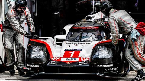 Equipo Porsche en Le Mans 919 hybrid competicion motorsport