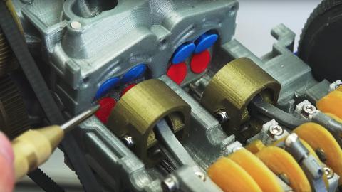 Así funciona el motor bóxer de un Subaru impreso en 3D