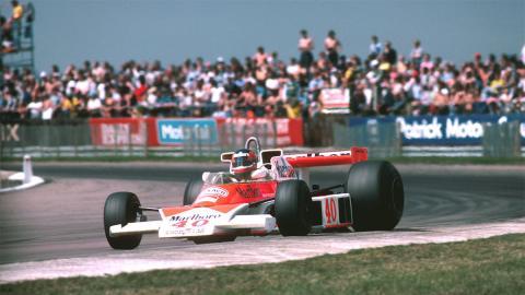 Debut Villeneuve GP de Gran Bretaña F1 1977