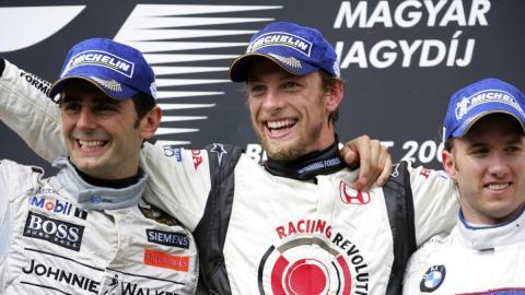 De la Rosa, su único podio, y Button, primera victoria en Hungría 2006